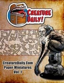 CreatureDaily.Com Paper Miniatures - Vol. 1 on RPGNow.com