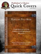 Publisher's Choice: Quick Covers #2