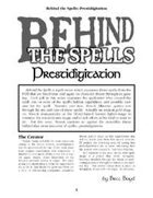 Behind the Spells: Prestidigitation