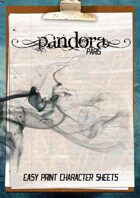 Pandora Paris - Easy Print Character Sheets