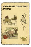Vintage Art Collection: Animals
