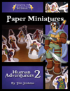 Battle! Studio Paper Miniatures: Human Adventurers 2
