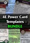 4E Power Card Templates [BUNDLE]
