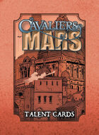 Cavaliers of Mars Talent and Path Cards