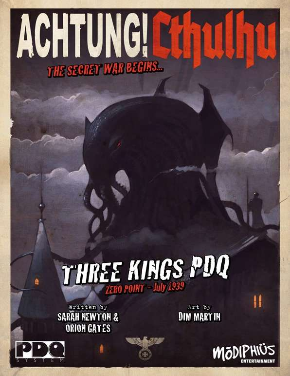 Achtung! Cthulhu - Zero Point  - Three Kings - PDQ Core Rule Book