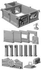 Fallout: Wasteland Warfare - Terrain Expansion: Vault Design Starter Pack STL