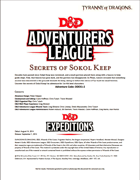 DDEX1-02 Secrets of Sokol Keep (5e)