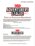 DDEX1-13 Pool of Radiance Resurgent (5e)