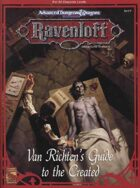 RR8 Van Richten's Guide to the Created (2e)