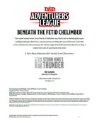 DDAL05-06 Beneath the Fetid Chelimber (5e)