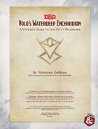 Volo's Waterdeep Enchiridion (5e)