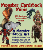 Monster Stand-Ins II Preview (Paper Minis)