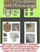 Cityographer Post Apocalyptic City Map Icons (Any Editor)