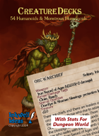 Creature Decks: Dungeon World RPG Humanoids & Monstrous Humanoids