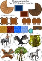 Dungeonographer December 2015 Monthly World Map Icons (Any Editor)