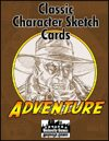 Classic Character Sketch Cards Set One: Pulp Adventure