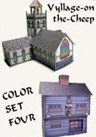 Vyllage-on-the-Cheep COLOR Buildings Set #4
