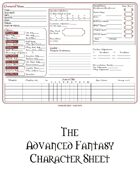 Advanced Fantasy Character Sheet