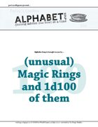 Alphabet Soup, GM Advice Document, 100 Magic Rings