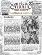 Convicts & Cthulhu: Ticket of Leave #8 Un-Statted