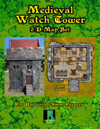 2-D Medieval Watchtower Map Set