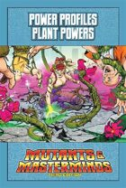 Mutants & Masterminds Power Profile #19: Plant Powers
