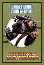 Mutants & Masterminds Gadget Guide: Asian Weapons