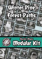 Heroic Maps - Modular Kit: Winter Pine Forest Paths