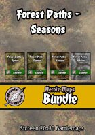 Heroic Maps - Forest Paths Seasons [BUNDLE]