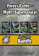 Heroic Maps - Forest Paths Night/Supernatural [BUNDLE]