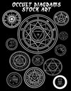 Occult Diagrams Stock Art