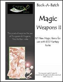 Buck-A-Batch: Magic Weapons II on RPGNow.com