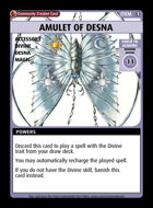 Amulet Of Desna - Custom Card