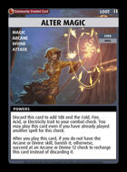 Alter Magic - Custom Card