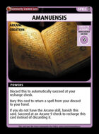 Amanuensis - Custom Card