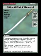 Adamantine Katana +2 - Custom Card