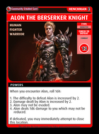 Alon The Berserker Knight - Custom Card