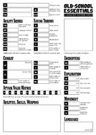 Old-School Essentials Purist Character Sheet
