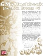 GM'S COOKBOOK: Random Events #1