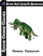 Stock Art: Blackmon Dinosaur Triceratops