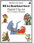Clip Art by Stan! Vol. 2: Fantasy Christmas