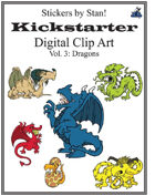 Clip Art by Stan! Vol. 3: Dragons