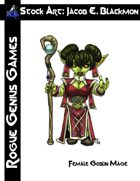Stock Art: Blackmon Female Goblin Mage
