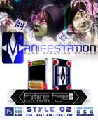 Manifestation CCS: Future Age (Series I) Style 02 - Color Scheme 1 [Futuristic Trading Card Game Template]