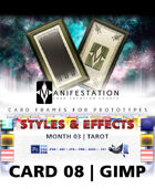 Card 08- Styles & Effects (Tarot) Gimp | Card Game Design Template for Play-testing |