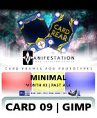 Card 09 - Minimal (Past Age) Gimp | Card Design Template for Prototyping |