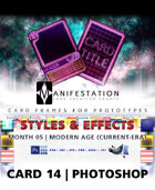Card 14 - Styles & Effects (Future Age) Photoshop + Gimp | Card Design Border for Prototypes |