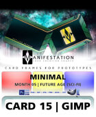 Card 15 - Minimal (Future Age) Gimp | Card Design Border for Prototypes |