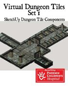 Virtual Map Tiles: Basic Dungeon Tile Set 1