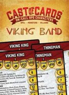 Cast of Cards: Viking Band (Fantasy)
